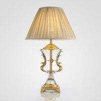 Современный минималистский американский бронзового стекла золотые настольные лампы декоративные Творческий модель дом Американский гост
