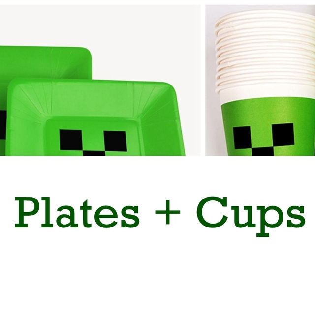 minecraft dishes plates minecraft cups happy birthday party