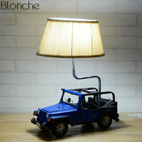 Modern LED Suv Table Lamp for Children's Room Bedroom Bedside Lamp Retro Jeep Car Standing Desk Light Kids Gift Reading Fixtures