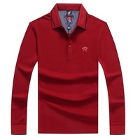 ropa de hombre 2018 Autumn long sleeve polo homme Tace & Shark brand men's polo shirt casual business camisa polo masculina