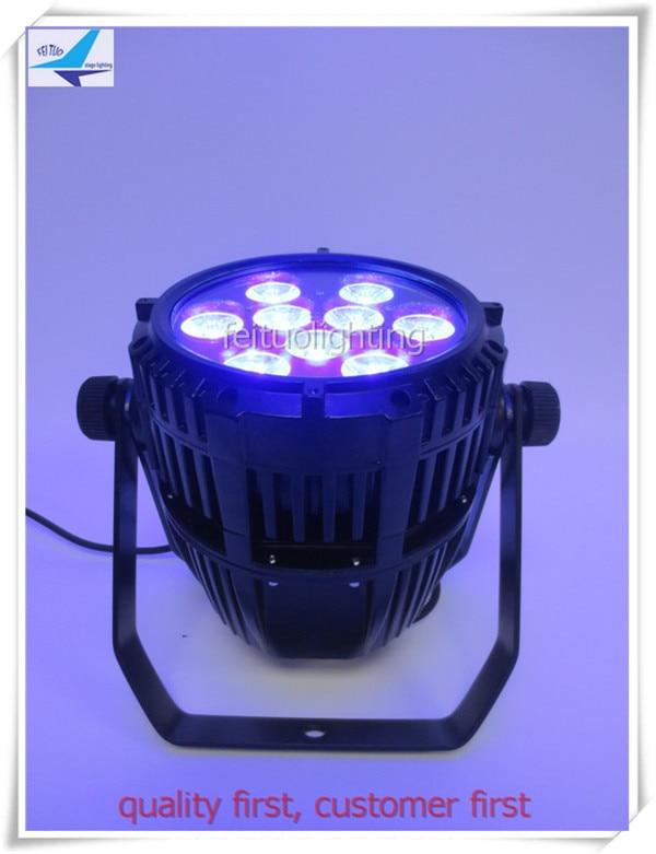 2pcs/lot Stage Disco Uplight Par Lights 9pcs 18w LED Wireless Outdoor Wash Lumiere RGBWA 5IN1 Recharge Battery Show DJ Par64 Can