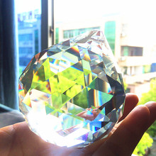 Clear Crystal Chandelier Faceted K9 2pcs MC Balls--80mm Quality Best-Selling 100%Aaa