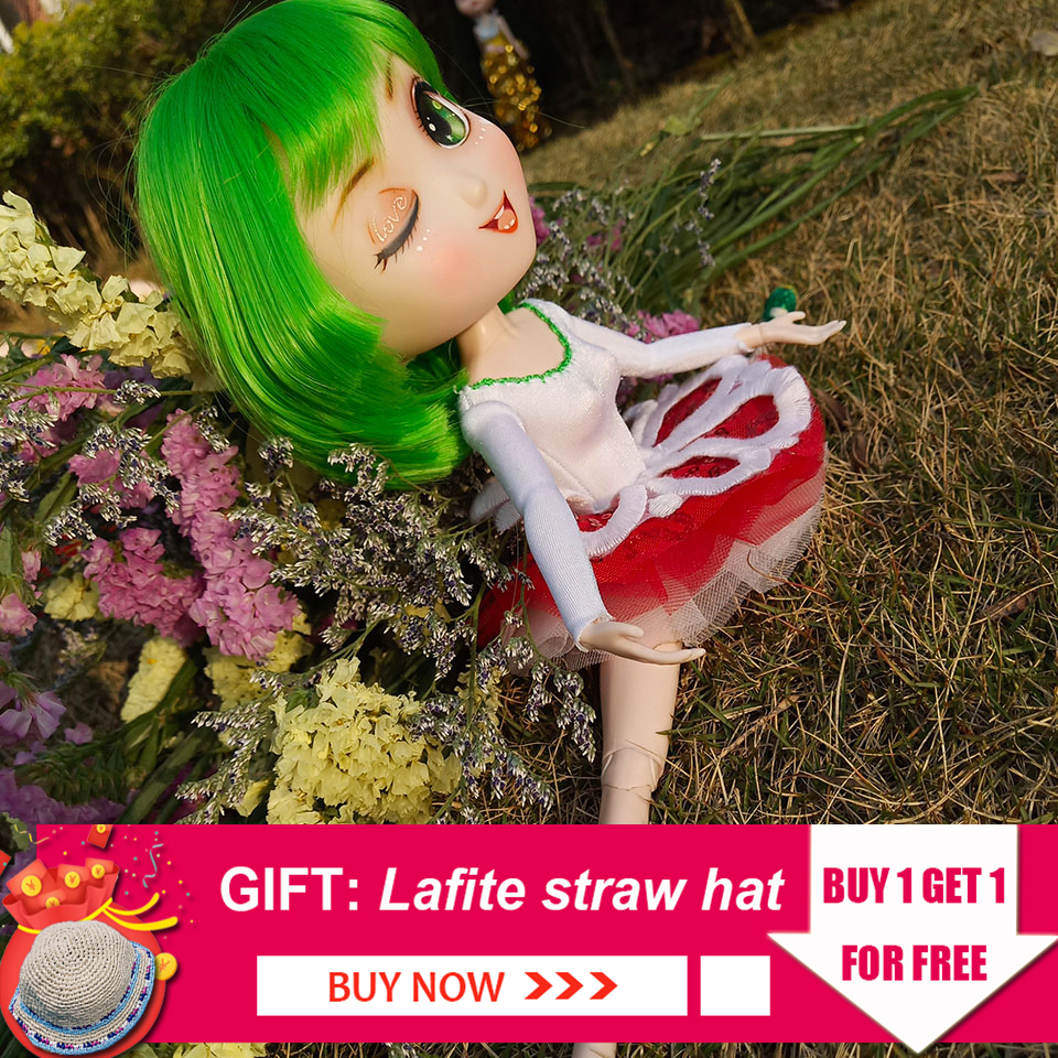 New Arrival Sweetpea Doll Bjd 1/6 Doll Combination 26 cm Ball Joint Body Makeup Ballet Dress Shoes Wig Outgoing Package Sets ToyNew Arrival Sweetpea Doll Bjd 1/6 Doll Combination 26 cm Ball Joint Body Makeup Ballet Dress Shoes Wig Outgoing Package Sets Toy