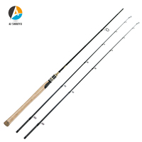 AI SHOUYU Carbon Fishing Rod 2.1m 2.4m M MH 2 Top Tips MF Action Sea Bass Rod 2 Sections Spinning Rod feeder Rod Max Drag 14kg