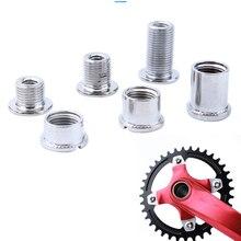 2 пар/уп. ноготь пластина зубная пластинка винты стальные Chainwheel Болты MTB дорожный велосипед кривошипная пластина крестовый набор гайка запчасти велосипедные аксессуары