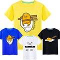 Lindo caliente Gudetama fibra de la leche de manga corta camiseta de Anime camiseta del verano hombres de las mujeres Tes de Las Tapas