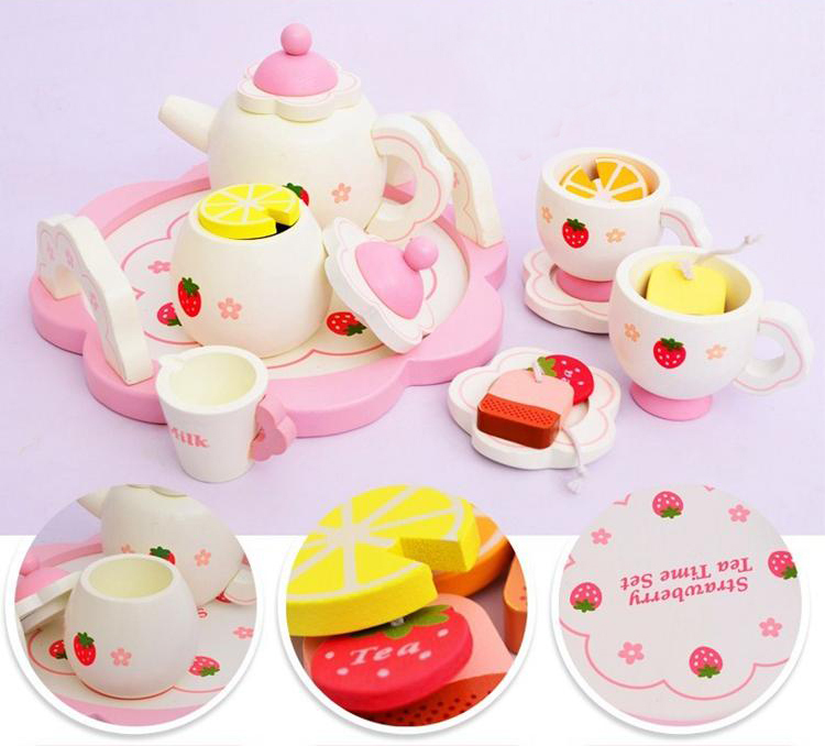 Free shipping Cutest baby Mother  tea set wooden child toy Play House Kitchen Toys Pretend Tea set Play free shipping children tea set wooden child toy play house kitchen toys pretend tea set play