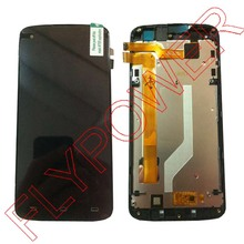 For Philips I908 LCD Screen Display With Touch Screen Digitizer Glass +frame assembly by free shipping; 100% warranty