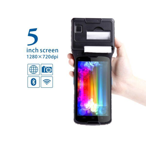 LS550S (2D) 5 Pouce Tactile Écran Industrielle Android Tablet Smart Pos Imprimante Terminal avec Intégré 2D barcode Reader, NFC, WIFI, 4G