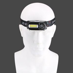 Image 4 - Sanyi Mini COB LED العلوي كشافات رئيس مصباح يدوي USB قابلة للشحن 18650 الشعلة التخييم التنزه ليلة مصباح الصيد