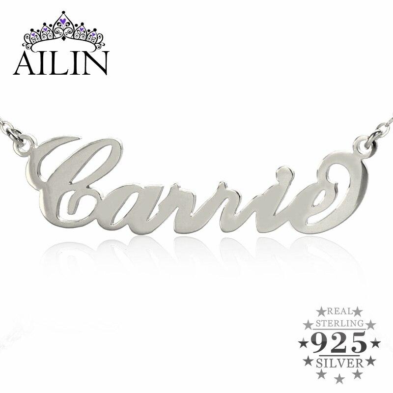 AILIN Personalisierte Name Halskette Sterling Silber Initialen ...