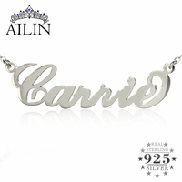Personalized Name Necklace Sterling Silver Initials Necklace 10 Kinds Typefaces Customized Necklace Great Gift To US