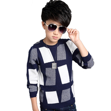 2016 Fashion Brand Boys Sweater Winter Autumn Boy Outwear Sweater Cotton Kids Sweater Children Outerwear Knitwear Sweater 5-14y