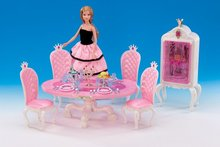 case for barbie doll house furniture accessories table tableware sweet kind girl educational toys