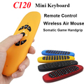 Del Color del caramelo de 2.4 Ghz Wireless Mini Keyboard Air Mouse C120 T10 Gamepad giroscopio de Control Remoto para Android TV Box Mini PC Laptop