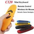Doce Cor T10 Mini Teclado Sem Fio 2.4 Ghz Air Mouse C120 giroscópio Gamepad Controle Remoto para Android TV Box Mini PC Laptop
