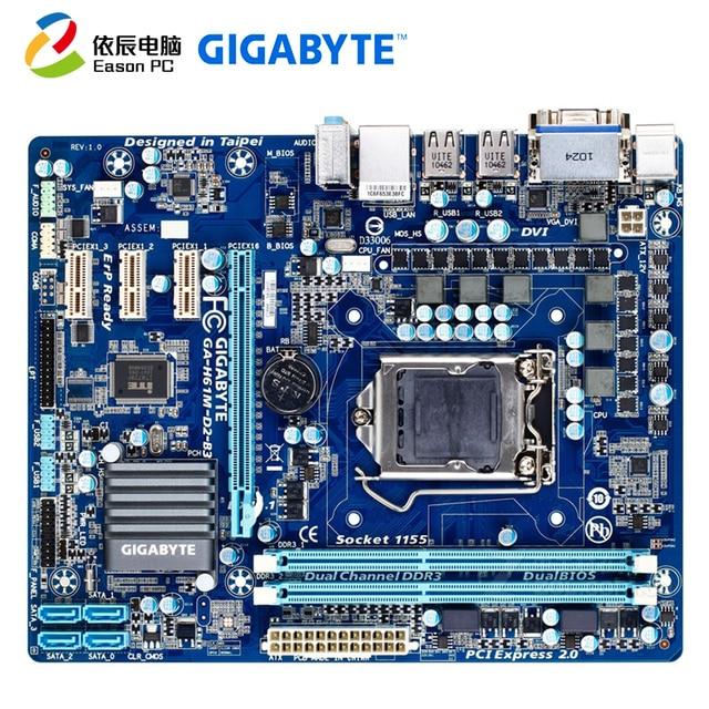جيجابايت GA H61M D2 B3 (rev.1.0) LGA1155 DDR3 i3i5 USB2.0 SATA II