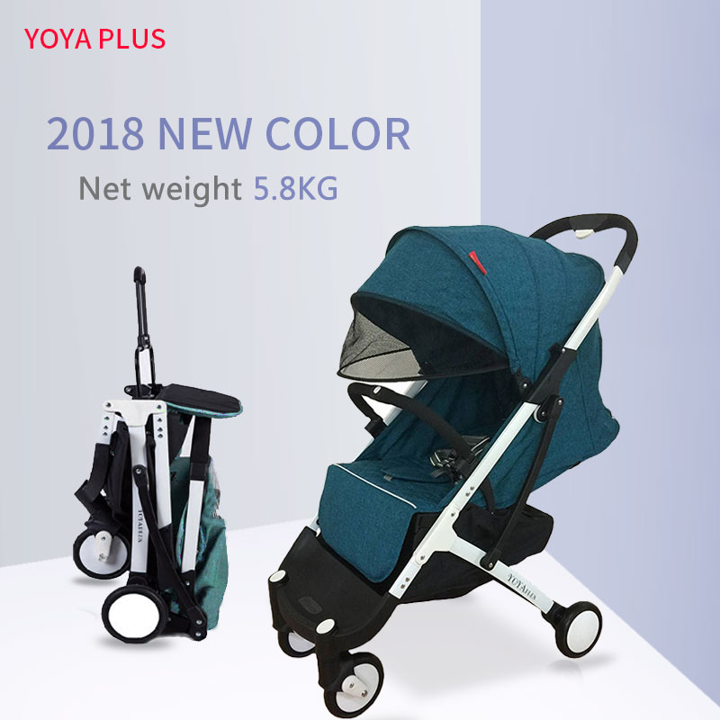 2018 new yoya plus baby stroller 5.8kg folding baby carriage newborn use boarding stroller take in airplane directly free gift