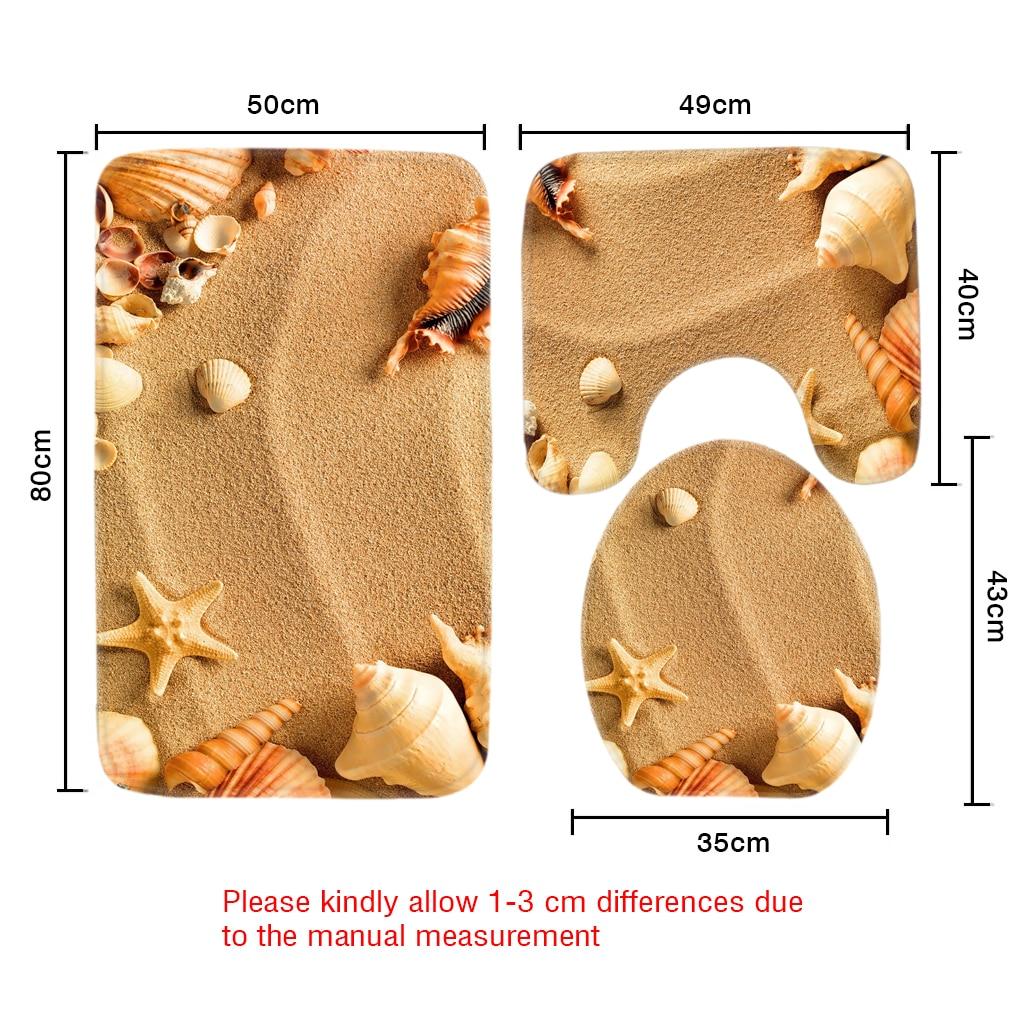 Beach Sea S Pattern Toilet Mat