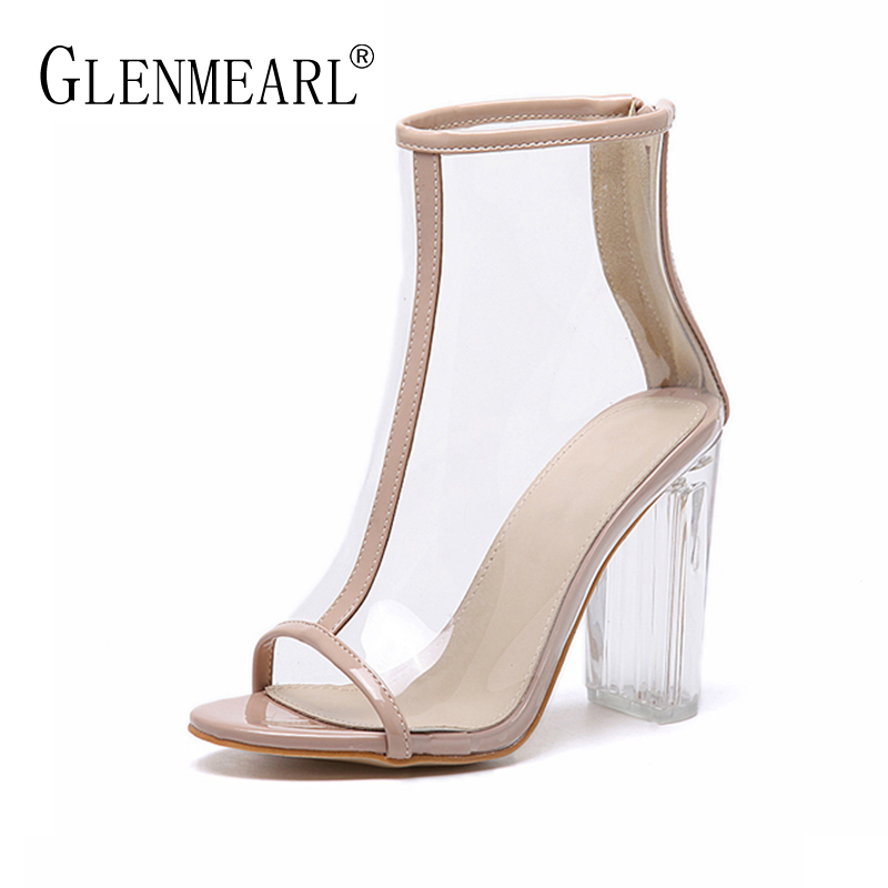 Fashion Women Sandals Boots Summer Sexy High Heels Shoes Woman Brand Thick High Heels Ankle Ladies Sandals Shoes Plus Size 35-40 women sandals fashion low heels sandals for summer shoes woman ankle strap flats sandals shoes soft bottom casual shoes 35 44