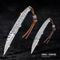 CIMA Damascus Pocket Knife Knives