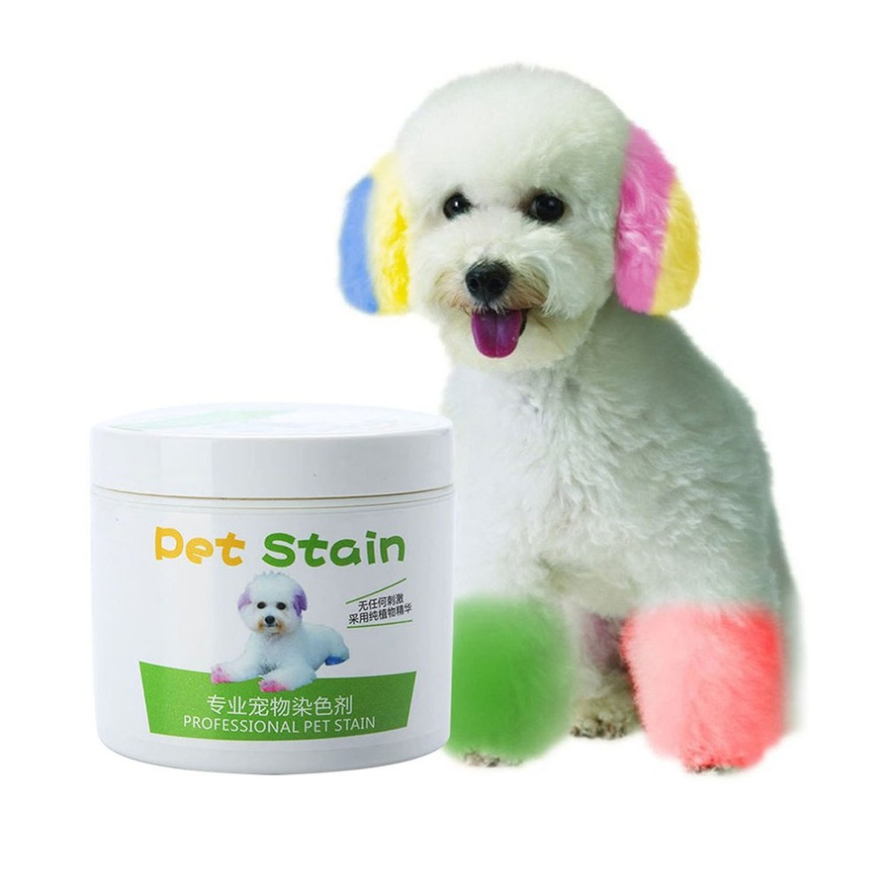 NEW Performance Hair Dye Gel For Dogs Professional Pet Hair Cream Hair Color Non-toxic DIY Dyeing Wax 3.51oz/100ml DROP SHIP