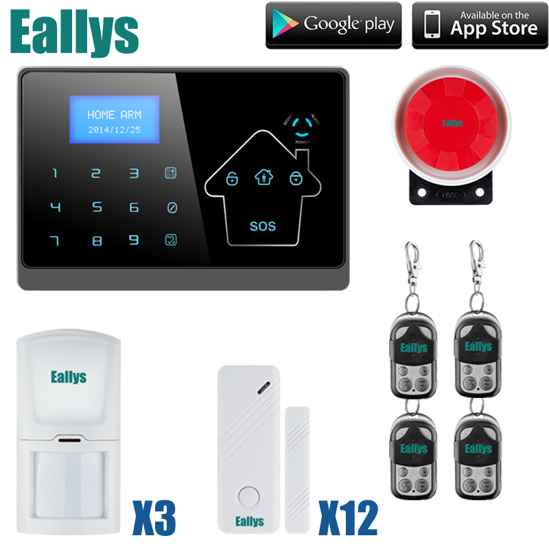 Android IOS APP 433Mhz Sensor Dual-network GSM PSTN Sim Call LCD Smart Dislay+Touch Keypad Home Burglar Security Alarm android ios app sensor dual network gsm pstn 2g sim call lcd smart dislay touch keypad home burglar security alarm