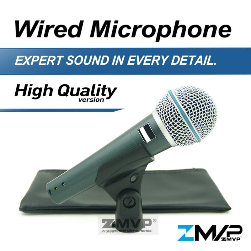 Free Shipping! High Quality Version B 58 A Professional Vocal Karaoke Handheld Dynamic 58A Wired Microphone Microfone Mike Mic lenovo original um10c portbale wired microphone karaoke microphone professional concert live wireless microphone for smartphone