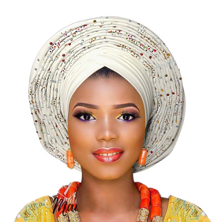 Auto Gele Already Tied Headtie African Ready To Wear Headtie Gele