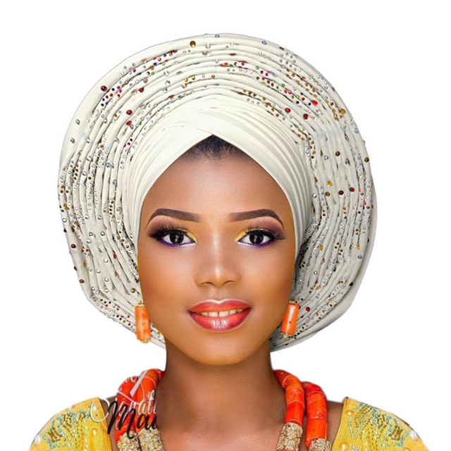 a62bd95a67ff Auto gele already tied headtie african ready to wear headtie gele -in  Women's Hair Accessories from Apparel Accessories on Aliexpress.com |  Alibaba Group
