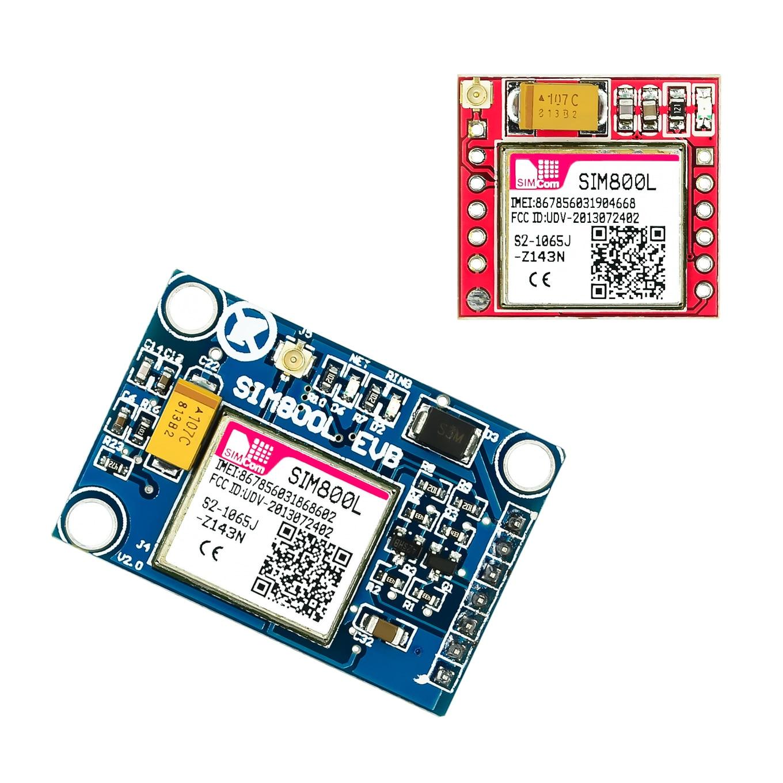 Menor sim800l gprs gsm módulo placa de núcleo cartão microsim quad-band ttl porta serial