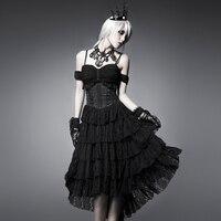 Стимпанк черный сексуальные стекаются ласточкин хвост корсет летнее платье без рукавов Вечернее Бальное Платье с открытой спиной женское