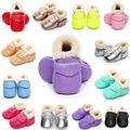 Toddler Bebé Botines Nieve Botas de Invierno Cálido Zapatos del Pesebre Suaves del Recién Nacido 0-18 M