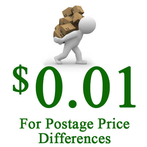 Pay Postage Price Differences