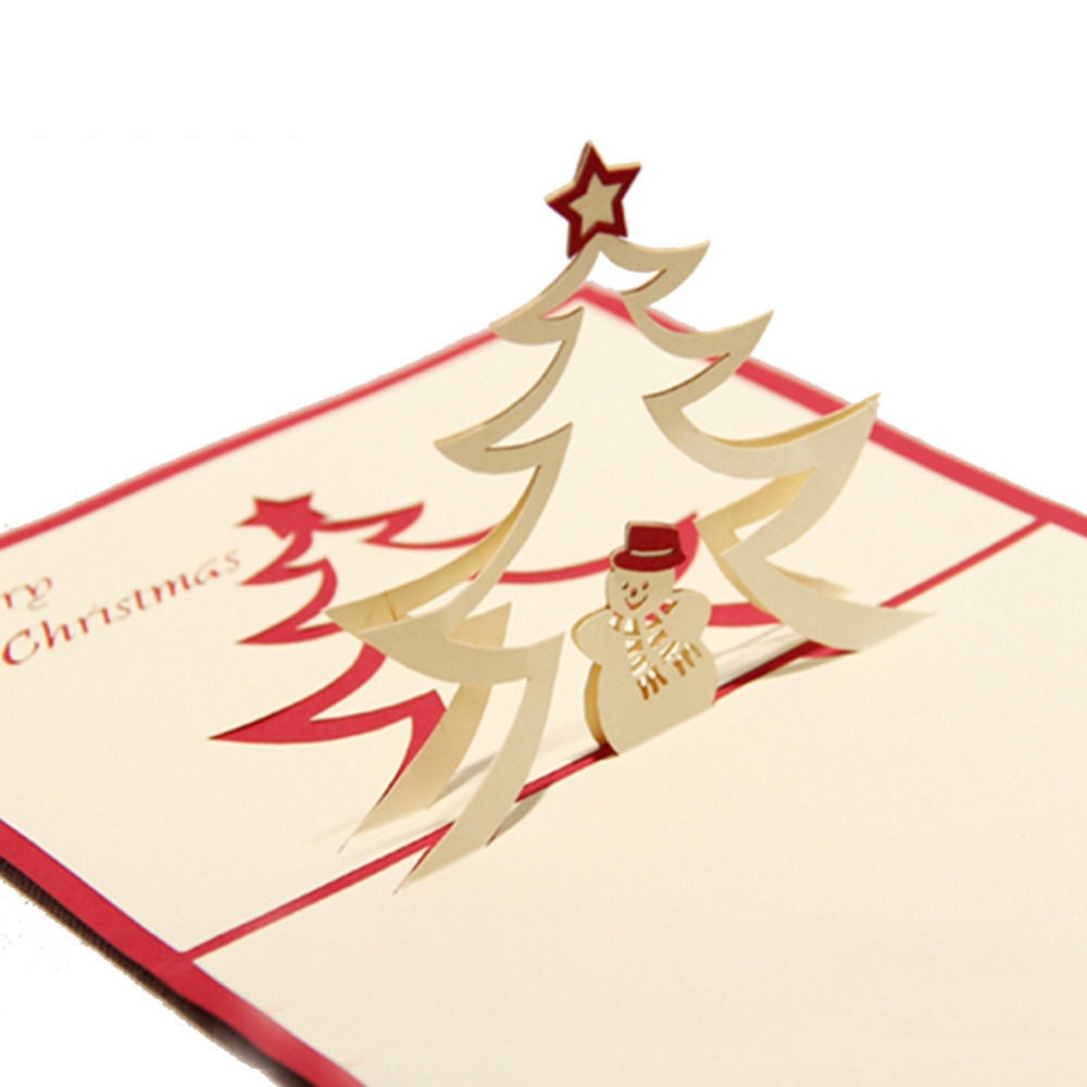 Imágenes de How To Make Diy Pop Up Christmas Card With Tree And Snowman