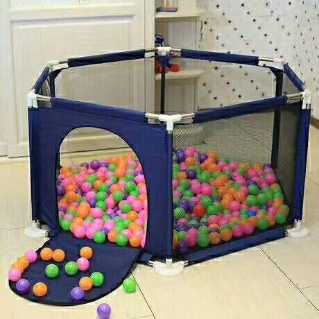 Baby Playpen Activity Gear Polyester Fabric Barrera Piscina De Bolas Para Bebes Cabane Enfant Folding Playpen Ballenbak Sale