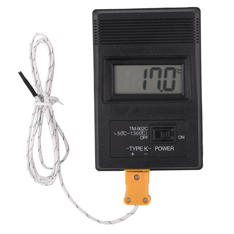 LCD Electronic Industrial Temperature Meter Digital Surface Thermometer Detector with Thermocouple K type Probe Sensor TM-902C lcd digital humidity and temperature meter gauge type k thermocouple sensor probe 2 in 1 measurement thermometer 10degc 50 degc