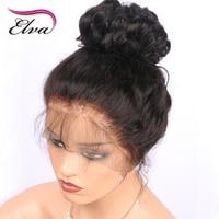 Elva Hair 180 Density Brazilian Remy Hair Lace Front Wig Deep Wave Hair Wig Glueless Pre