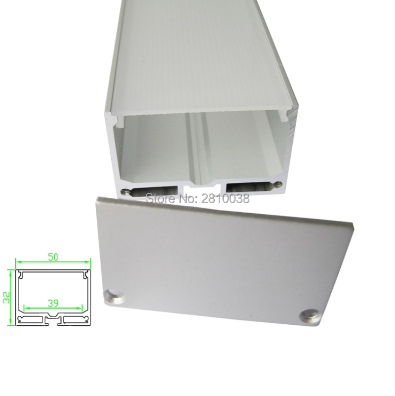 10 X 1M Sets/Lot Square type Anodized Aluminiumprofil led light and Extruded aluminum channel shapes for wall or ceiling lights