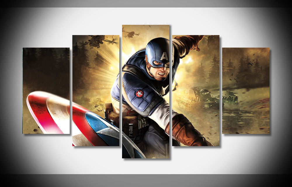 6787 captain America Poster movie Posters art print stretch framed room decor - gallery wrap art print home canvas decor