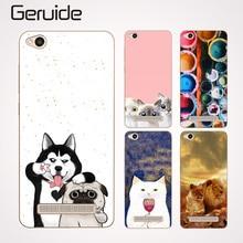 hot deal buy geruide phone case for xiaomi redmi 4a case for xiaomi hongmi 4a cover cartoon paint silicone cover for xiaomi redmi 4a case