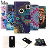 For Funda LG K10 2017 Case Leather Wallet Flip Magnetic 3D Relief Ctue Protective Phone Case For LG K10 2017 Cover For LG LV5