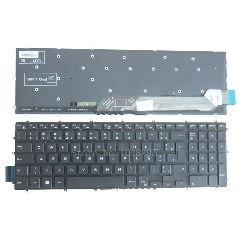 New BR keyboard for Dell Inspiron 15 7000 7566 15-7566 7566-1845 BR black laptop Keyboard without frame laptop keyboard for acer silver without frame bulgaria bu v 121646ck2 bg aezqs100110