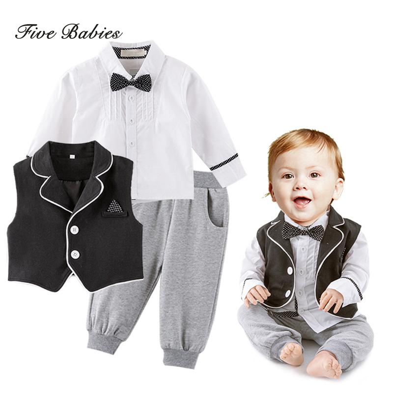 Handsome Baby Rompers Infant Newborn 0-18M Bow Romper Costume Cotton Tie Jumpsuit Clothes Gentleman Body Suit Baby Boys Clothing newborn baby rompers baby clothing 100% cotton infant jumpsuit ropa bebe long sleeve girl boys rompers costumes baby romper