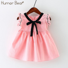Humor Bear New Spring&Summer Style Baby Girls Princess Dress Bowknot Party Dresses Baby Clothes Baby Clothing