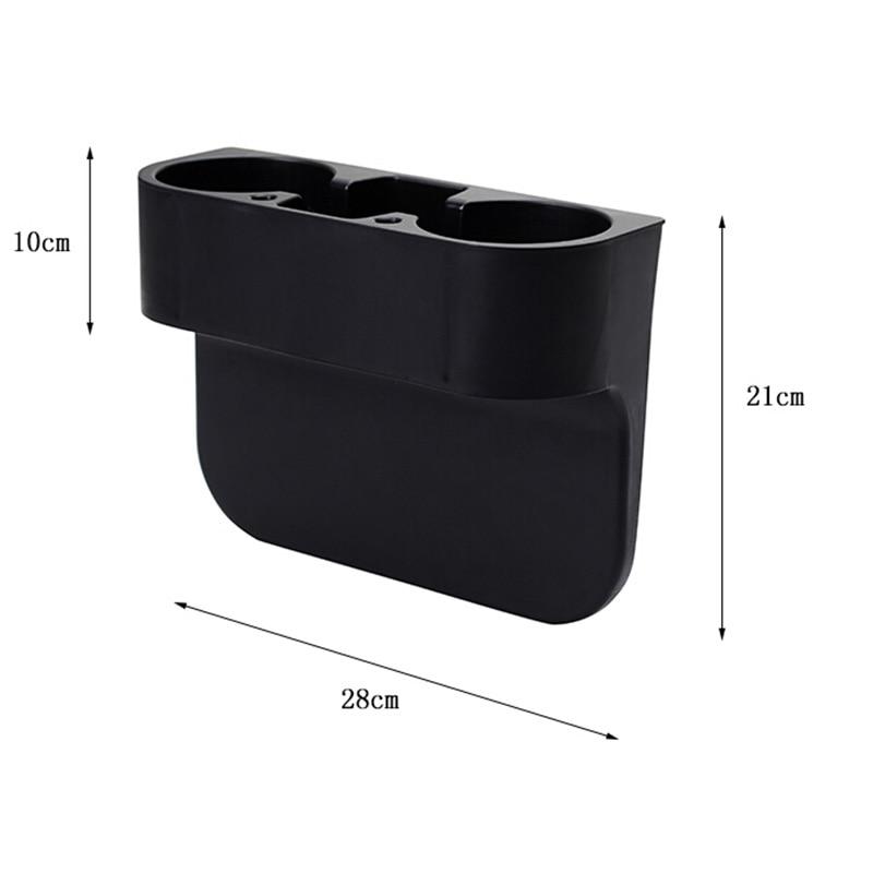 Car Seat Gap Opbevaringsboks Sort Plastik Auto Vandkup Mobiltelefon - Bilinteriør tilbehør - Foto 3