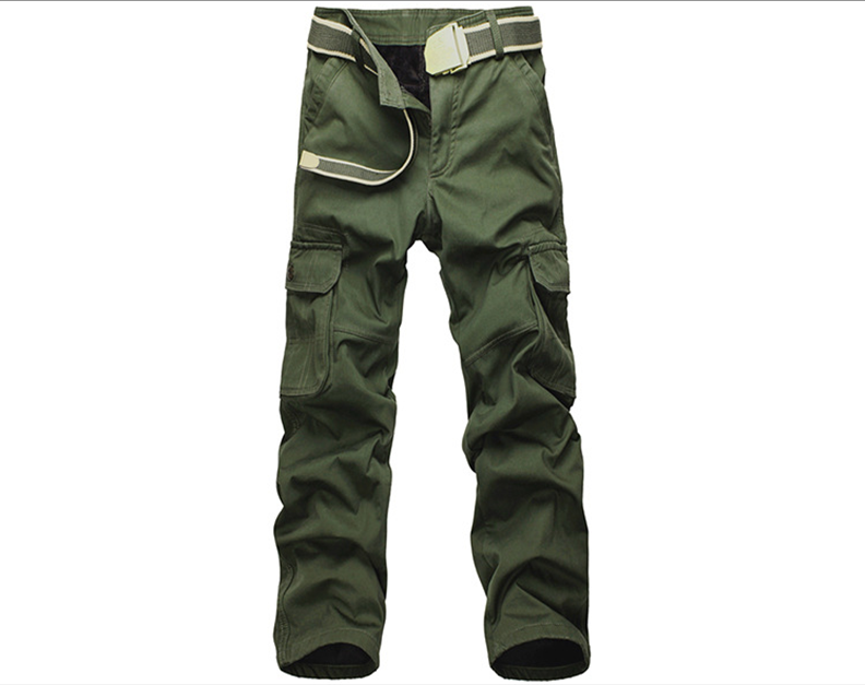 Men Plus Size Velvet Thick Warm Overalls Cargo Tactical Commandos Leisure Loose Multi-Pockets Full Length Men's Casual Trousers reebow tactical men plus size cargo pants outdoor sports running loose fatty trousers 4xl 5xl 6xl max 135cm waist 140kg