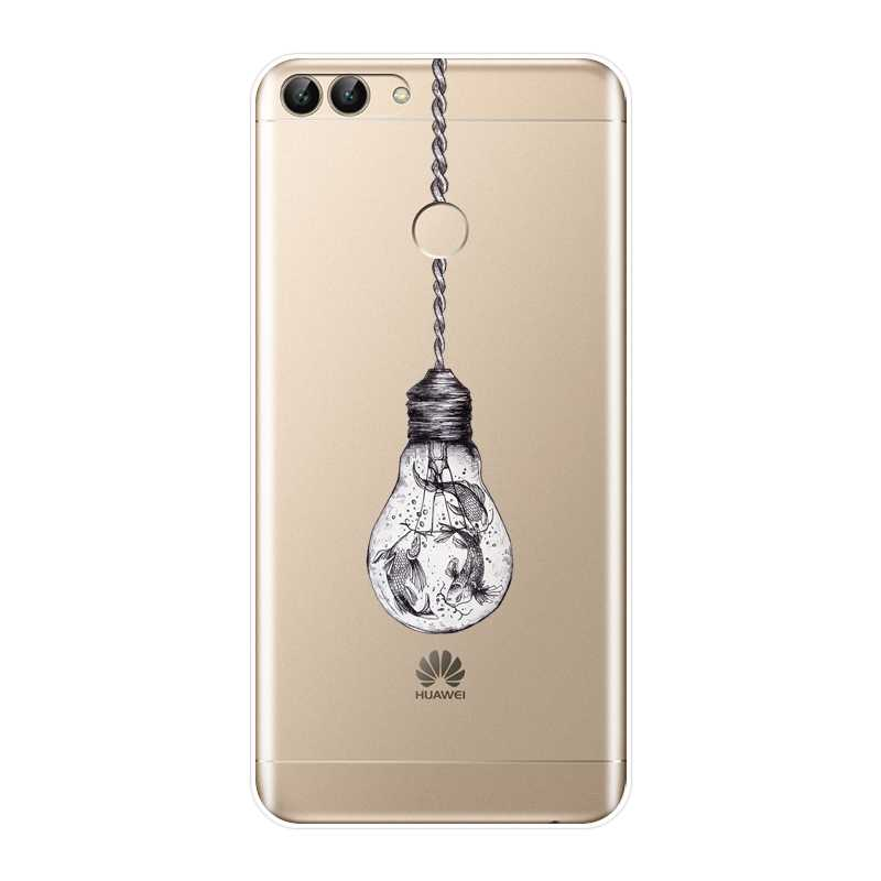 Cassa del telefono Per Huawei P10 P20 P8 P9 Lite 2017 del Fiore Molle del Silicone Della Copertura Posteriore Per Huawei P9 Lite Mini p10 Più P20 Pro P Smart