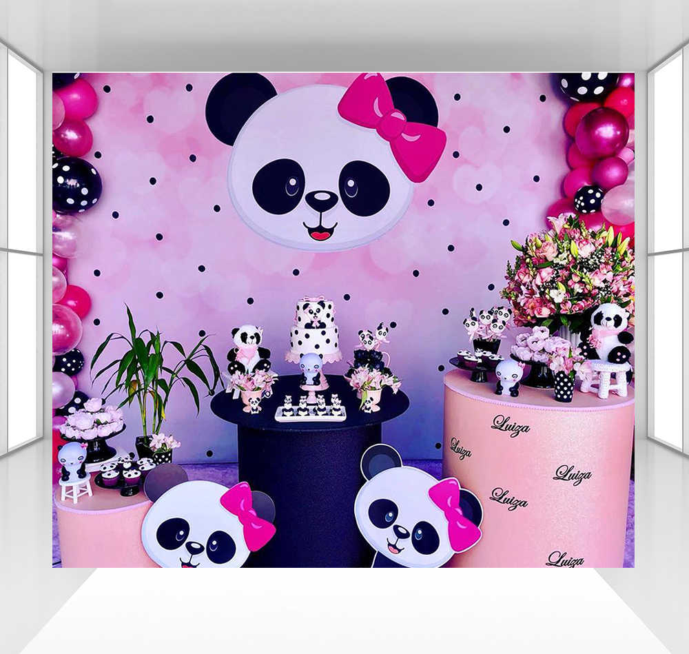 Panda Background For Girls Boy Photography Backdrops Baby Children