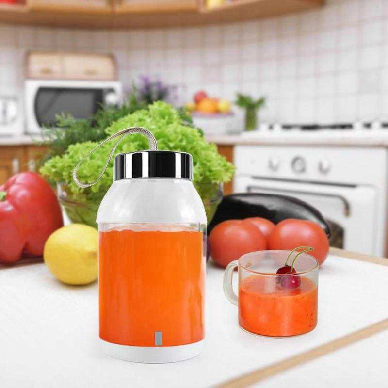 Carregamento usb misturador liquidificador portátil juicer máquina de suco fabricante de frutas casa 500 ml